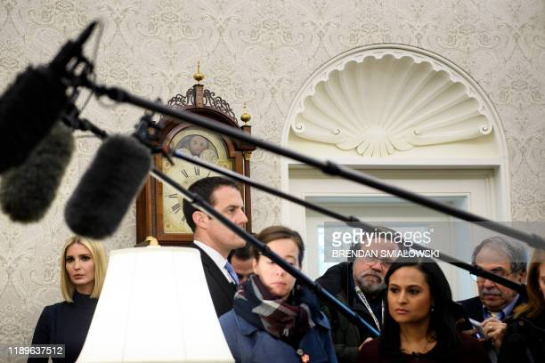 Ivanka Trump listens during a meeting between US President Donald Trump and Rep Jeff Van Drew who is switching from the Democratic Party to the...