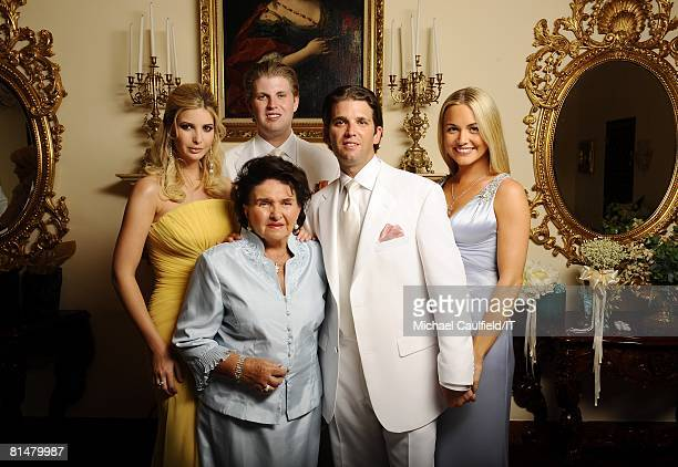 RATES Ivanka Trump Maria Zelnickoba Eric Trump Donald Trump Jr and Vanessa Trump pose during the wedding of Ivana Trump and Rossano Rubicondi at the...