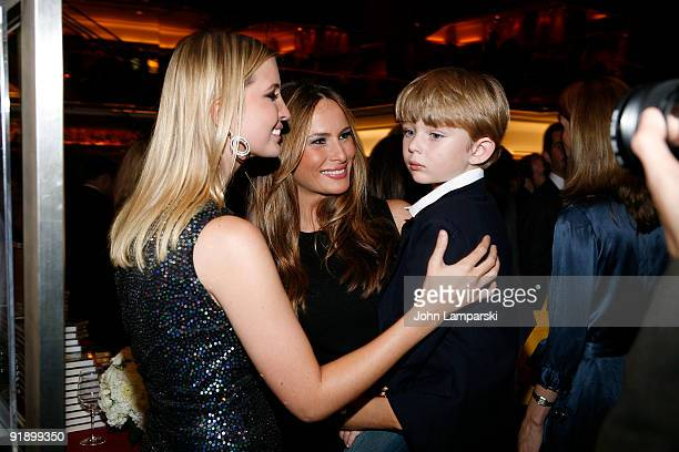 Ivanka Trump Melania Trump and Barron Trump attend The Trump Card Playing to Win in Work and Life book launch celebration at Trump Tower on October...