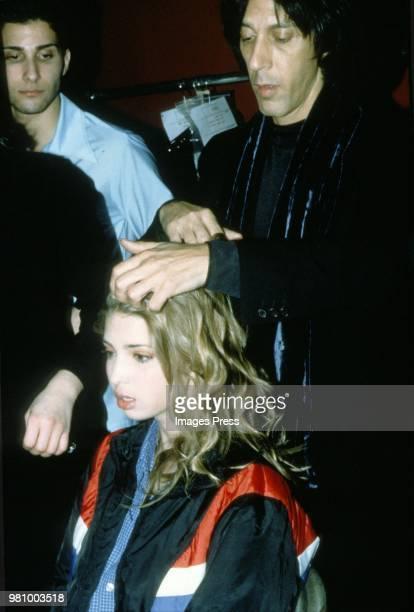 Ivanka Trump models during New York Fashion Week 1997 in New York