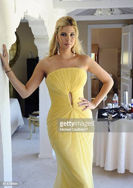 RATES Ivanka Trump poses during the wedding of Ivana Trump and Rossano Rubicondi at the MaraLago Club on April 12 2008 in Palm Beach Florida Maid of...