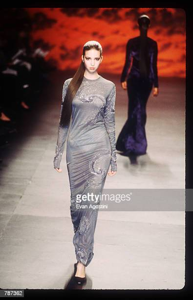 Ivanka Trump poses February 17, 1999 during the Marc Bouwer 1999 Fall Fashion Show in New York City. Fashion designer Marc Bauwer has chosen an outer...