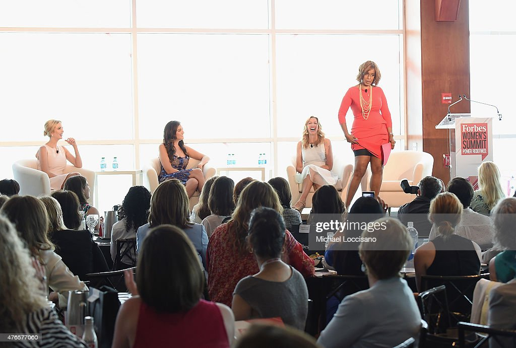 Ivanka Trump, Rent the Runway CEO Jennifer Hyman, Spanx founder Sara Blakely and Gayle King take part in the 2015 Forbes Women's Summit: Transforming The Rules Of Engagement at Pier 60 on June 10, 2015 in New York City.
