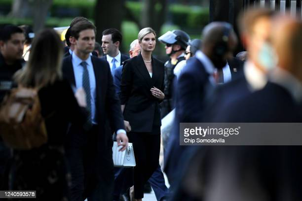 Ivanka Trump returns to the White House after US President Donald Trump posed for photographs in front of St John's Episcopal Church June 01 2020 in...