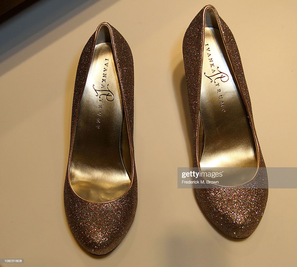 Ivanka Trump shoes on display during the Launch of Her Spring 2011 Lifestyle Collection of Footwear at the Topanga Nordstrom on February 17, 2011 in Canoga Park, California.