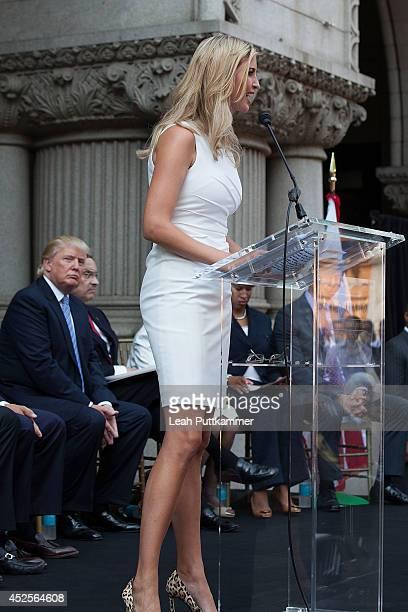 Ivanka Trump speaks at the Trump International Hotel Washington, D.C Groundbreaking Ceremony on July 23, 2014 in Washington, DC.