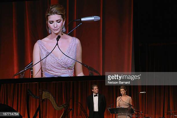 Ivanka Trump speaks during the European School Of Economics Foundation Vision And Reality Awards on December 5 2012 in New York City