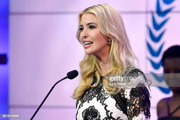 Ivanka Trump speaks onstage at the Team USA Awards at the Duke Ellington School of the Arts on April 26 2018 in Washington DC