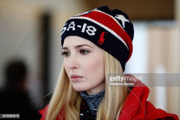Ivanka Trump visits the USA House on February 24 2018 in Pyeongchanggun South Korea