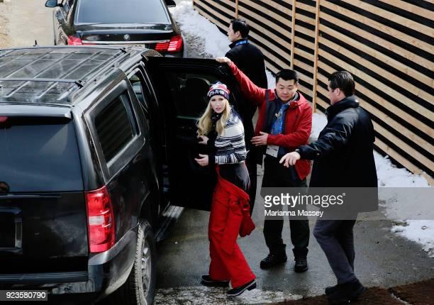 Ivanka Trump visits the USA House on February 24 2018 in Pyeongchanggun South Korea