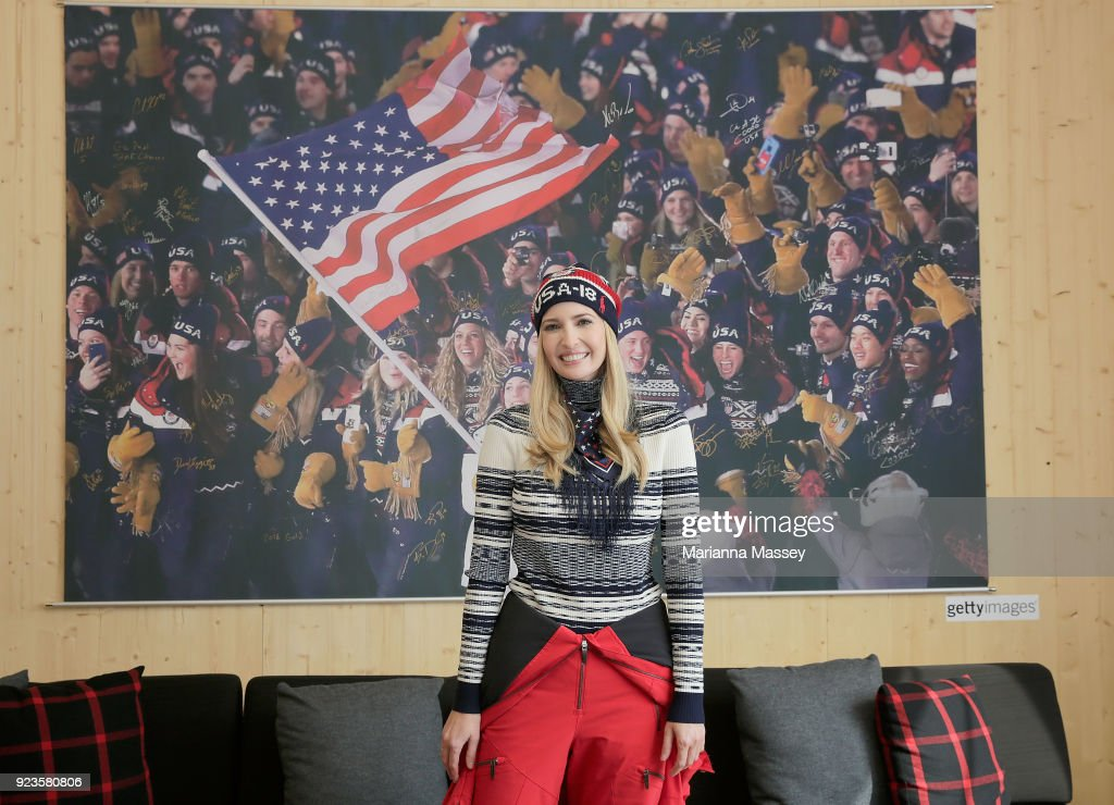 Ivanka Trump visits the USA House on February 24, 2018 in Pyeongchang-gun, South Korea.