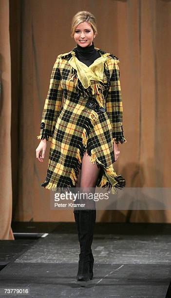 Ivanka Trump walks the runway at Johnnie Walker's Dressed To Kilt 2007 fashion show at Capitale on April 2 2007 in New York City