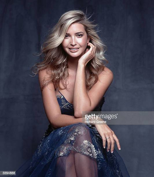 Ivanka Trump wearing a Christian Dior gown poses for a portrait June 23 2002 in New York City