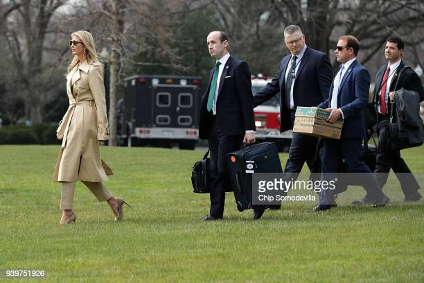 Ivanka Trump White House Senior Advisor Stephen Miller Deputy National Security Advisor Ricky Waddell and Deputy Director of Presidential Advance...