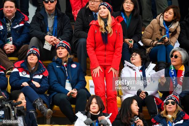 Ivanka Trump wife of Korean President Moon Jaein Kim Jungsook Korean foreign minister Kang Kyungwha White House press secretary Sarah Huckabee...