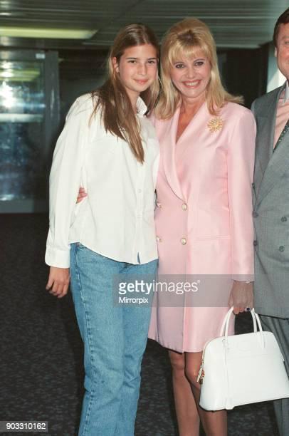 Ivanka Trump with her mother Ivana Trump at Heathrow Airport in 1996 Ivana has met her daughter Ivanka at Heathrow after Ivanka has flown in from New...