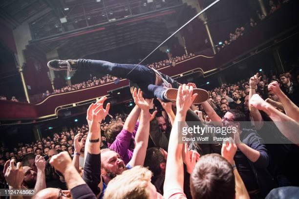 Ivar Nikolaisen from Kvelertak opens for Mastodon at Casino de Paris on February 13 2019 in Paris France