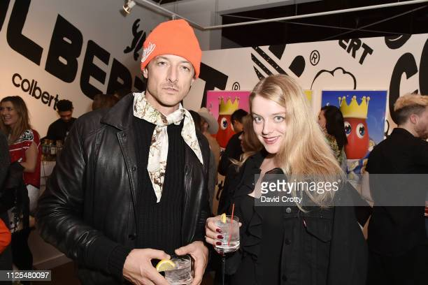 Ivar Wigan and Flora Alexandra Ogilvy attend Philip Colbert Solo Exhibition Opening At Saatchi Gallery Los Angeles Presented By Unit London at...