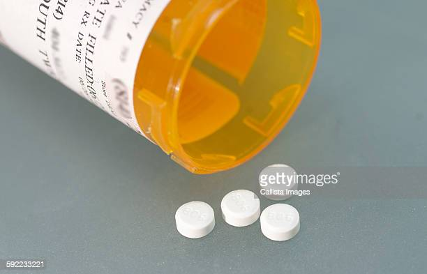 Ivermectin (a broad-spectrum antiparasitic agent) pills and pill bottle