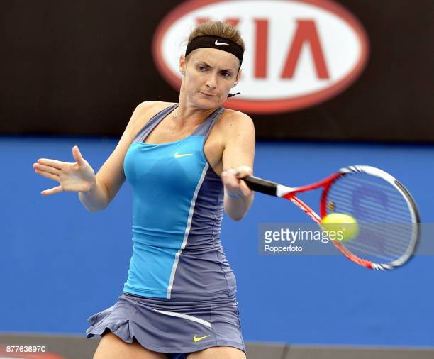 Iveta Benesova of the Czech Republic in action against Nina Bratchikova of Russia during a Ladies Singles 3rd round match on day five of the 2012...