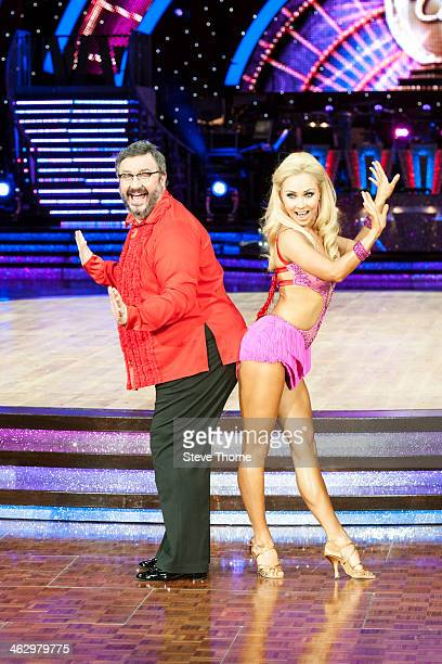 Iveta Lukosiute and Mark Benton attend the launch photocall for the Strictly Come Dancing live tour 2014 at NIA Arena on January 16 2014 in...