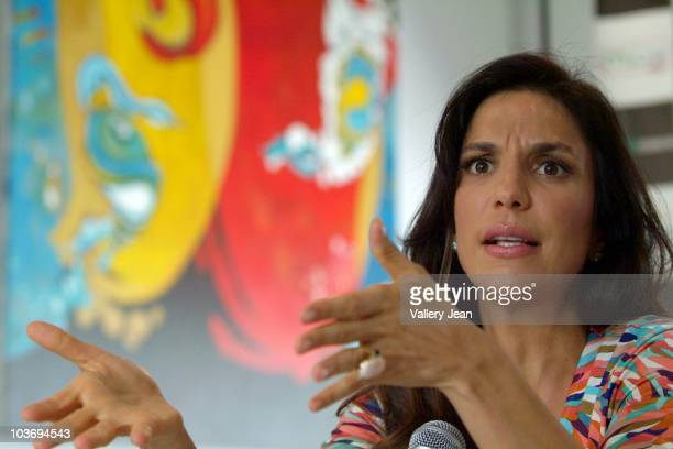 Ivete Sangalo attends press conference at Gibson Miami Showroom on August 27 2010 in Miami Florida