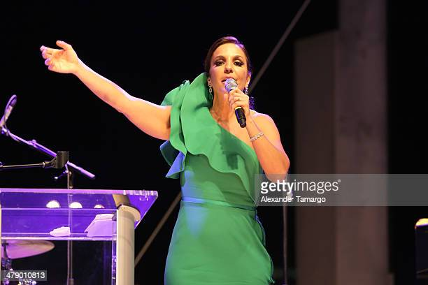 Ivete Sangalo Latin Grammy Award winner is seen at the third annual BrazilFoundation Gala Miami at Perez Art Museum Miami on March 15 2014 in Miami...