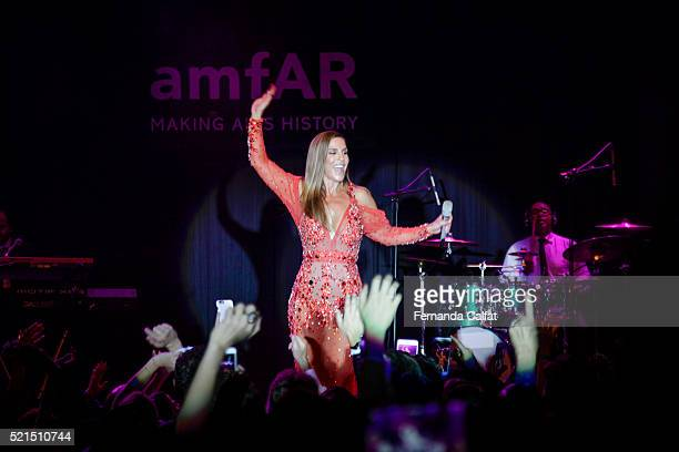 Ivete Sangalo performs at 2016 amfAR Inspiration Gala Sao Paulo on April 15 2016 in Sao Paulo Brazil