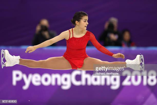 Ivett Toth of Hungary competes during the Ladies Single Skating Free Skating on day fourteen of the PyeongChang 2018 Winter Olympic Games at...
