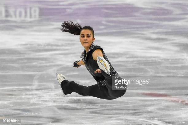 Ivett Toth of Hungary competing in free dance at Gangneung Ice Arena Gangneung South Korea on February 21 2018