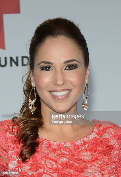 Ivette Machin arrives at Premios Tu Mundo Awards at American Airlines Arena on August 21 2014 in Miami Florida