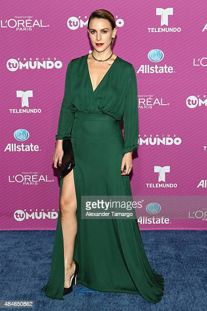 Ivette Machin arrives at Telemundo's Premios Tu Mundo Awards at American Airlines Arena on August 20 2015 in Miami Florida