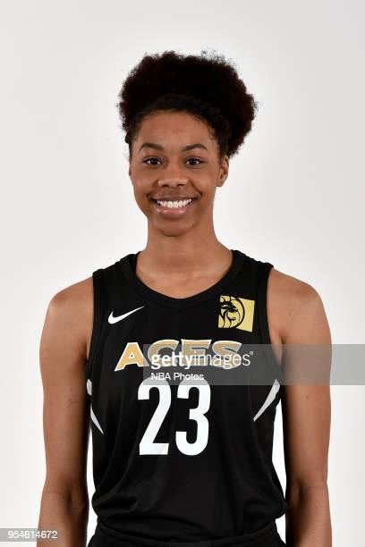 Ivey Slaughter of the Las Vegas Aces poses for a head shot at WNBA Media Day at MGM Grand Garden Arena on May 3 2018 in Las Vegas Nevada NOTE TO USER...