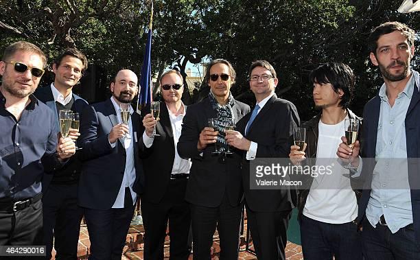 Ivi Robert Stephane Ceretti Nicolas Aithadi Alexandre Desplat Axel Cruau Hu Wei and Julian Feret attend The Consul General Of France Mr Axel Cruau...