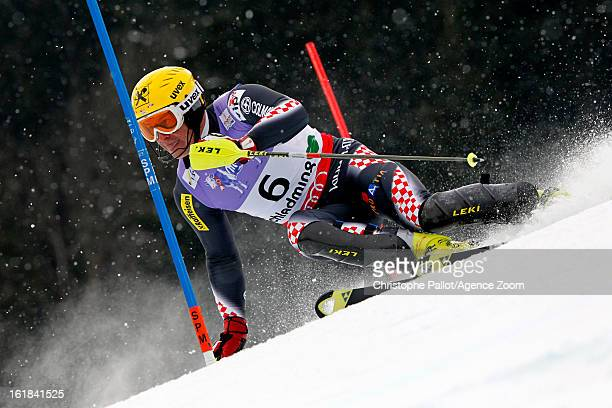 Ivica Kostelic of Croatia competes during the Audi FIS Alpine Ski World Championships Men's Slalom on February 17 2013 in Schladming Austria