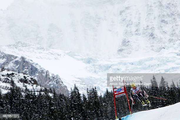 Ivica Kostelic of Croatia competes during the Audi FIS Alpine Ski World Cup Men's Downhill Training on January 16 2014 in Wengen Switzerland