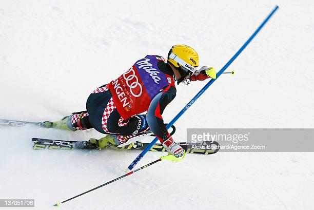 Ivica Kostelic of Croatia during the Audi FIS Alpine Ski World Cup Men's Slalom on January 15 2012 in Wengen Switzerland