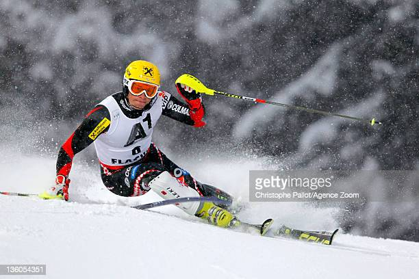 Ivica Kostelic of Croatia takes 1st place during the Audi FIS Alpine Ski World Cup Men's Slalom on December 21 2011 in Flachau Austria