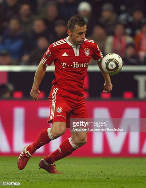 Ivica Olic of Bayern Muenchen runs with the ball during the Bundesliga match between FC Bayern Muenchen and Borussia Moenchengladbach at Allianz...