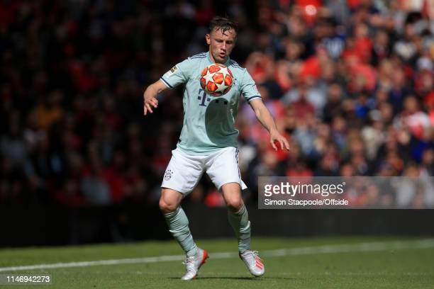 Ivica Olic of Bayern Munich in action during the Treble Reunion friendly match between the Manchester United '99 Legends and FC Bayern Legends at Old...