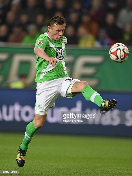 Ivica Olic of Wolfsburg in action during the Bundesliga match between VfL Wolfsburg and Hamburger SV at Volkswagen Arena on November 9 2014 in...