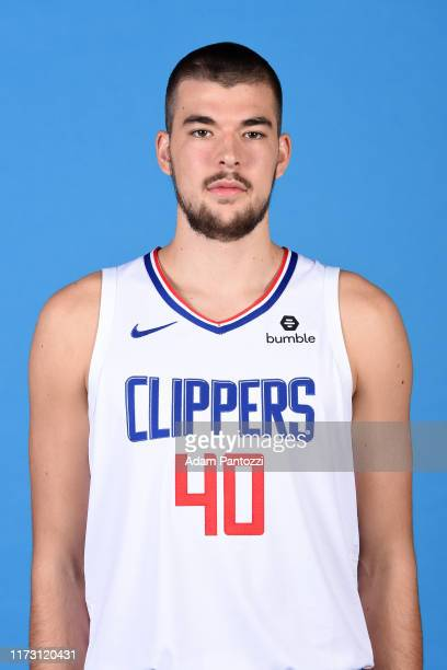Ivica Zubac of the LA Clippers poses for a head shot during media day on September 29, 2019 at the Honey Training Center: Home of the LA Clippers in...