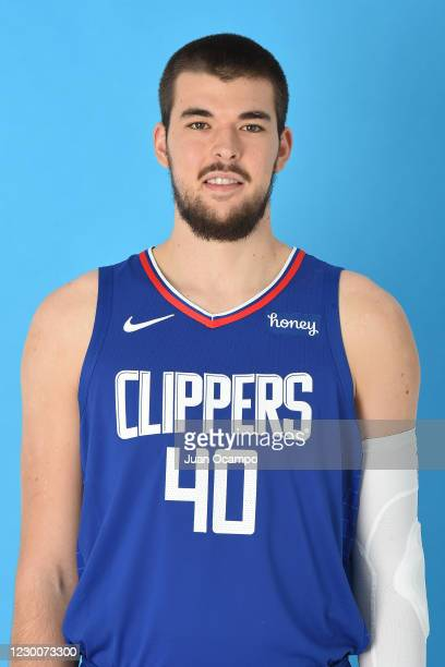 Ivica Zubac of the LA Clippers poses for a head shot during NBA content day on December 10, 2020 at the Honey Training Center: Home of the LA...