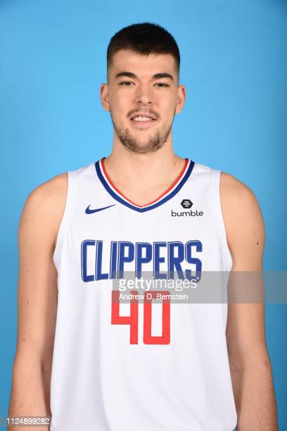Ivica Zubac of the LA Clippers poses for a headshot at STAPLES Center on February 13 2019 in Los Angeles California NOTE TO USER User expressly...