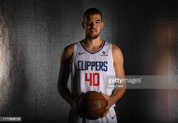 Ivica Zubac of the LA Clippers poses for a photo during LA Clippers media day at Honey Training Center on September 29, 2019 in Playa Vista,...