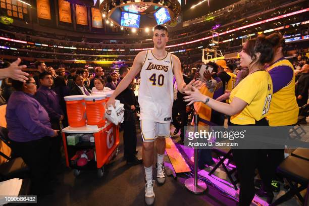 Ivica Zubac of the Los Angeles Lakers leaves the court after the game against the Phoenix Suns on January 27 2019 at STAPLES Center in Los Angeles...