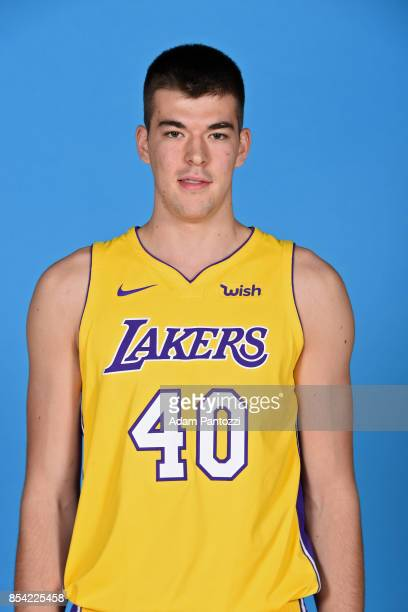 Ivica Zubac of the Los Angeles Lakers poses for a head shot during media day at UCLA Health Training Center on September 25 2017 in El Segundo...