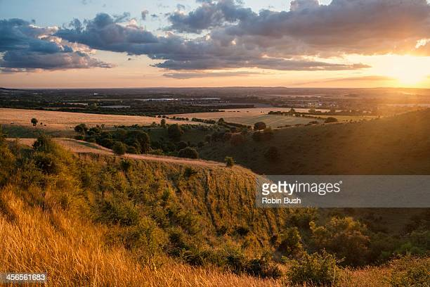 ivinghoe beacon, steps hill - buckinghamshire stock pictures, royalty-free photos & images