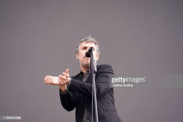 Iván Ferreiro performs during the second day of O Son do Camino Festival in Santiago de Compostela , Spain on June 14, 2019