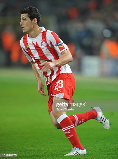 Iván Marcano of Olympiacos in action during the UEFA Champions League group F match between Borussia Dortmund and Olympiacos FC at Signal Iduna Park...
